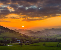Sunset over the Berwyn mountains